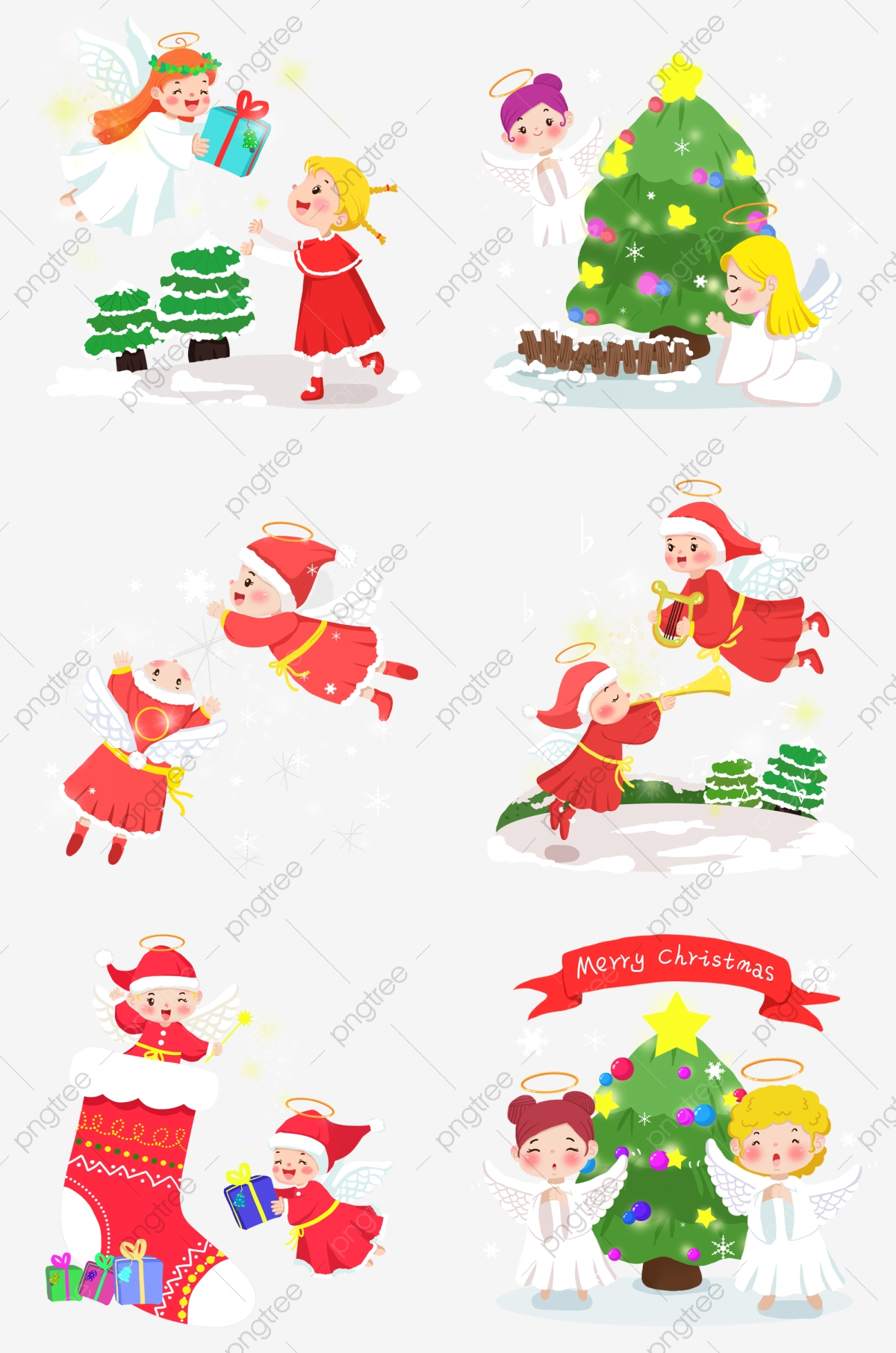 Christmas Giving Clipart.Hand Painted Christmas Angel Christmas Night Angel Giving A