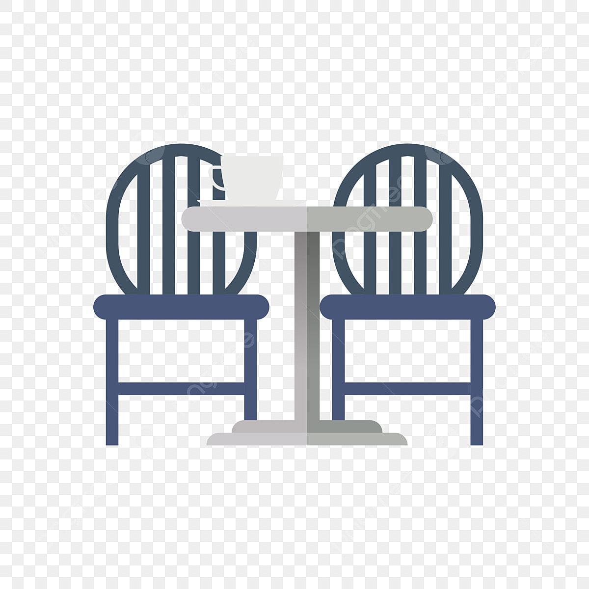Dessine A La Main Chaise De Salle A Manger Siege Bleu Table A Manger