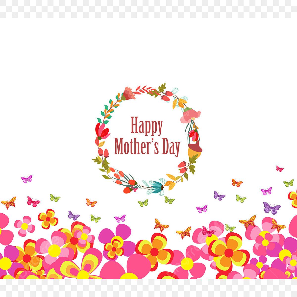 Dia De Las Madres Invitación Con Flores De Fondo Abstracto