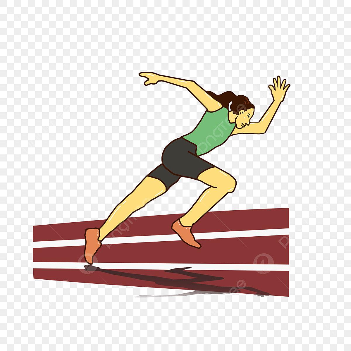 Jogos Olimpicos Mao Dos Desenhos Animados Desenhada Sprint