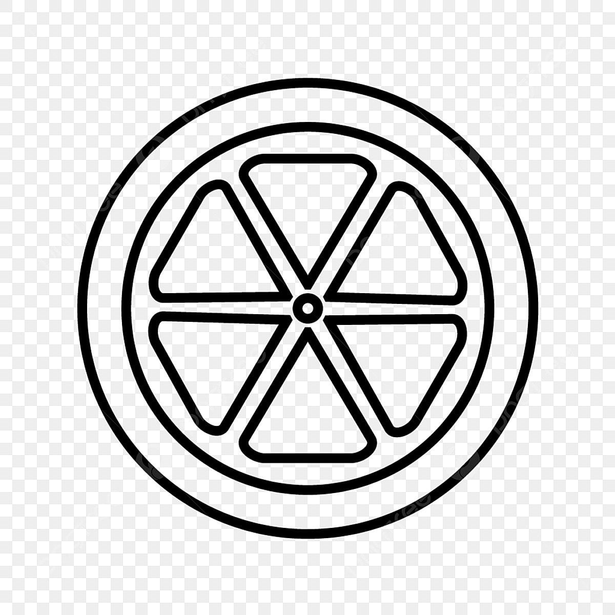 Orange Slice Line Black Icon, Orange Slice, Slice, Orange
