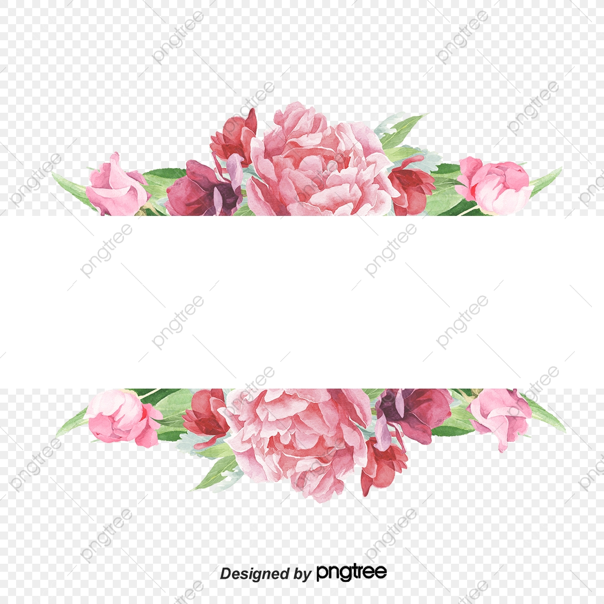 Eses Elemento Del Borde De Flores De Rosa Rosa Reposo