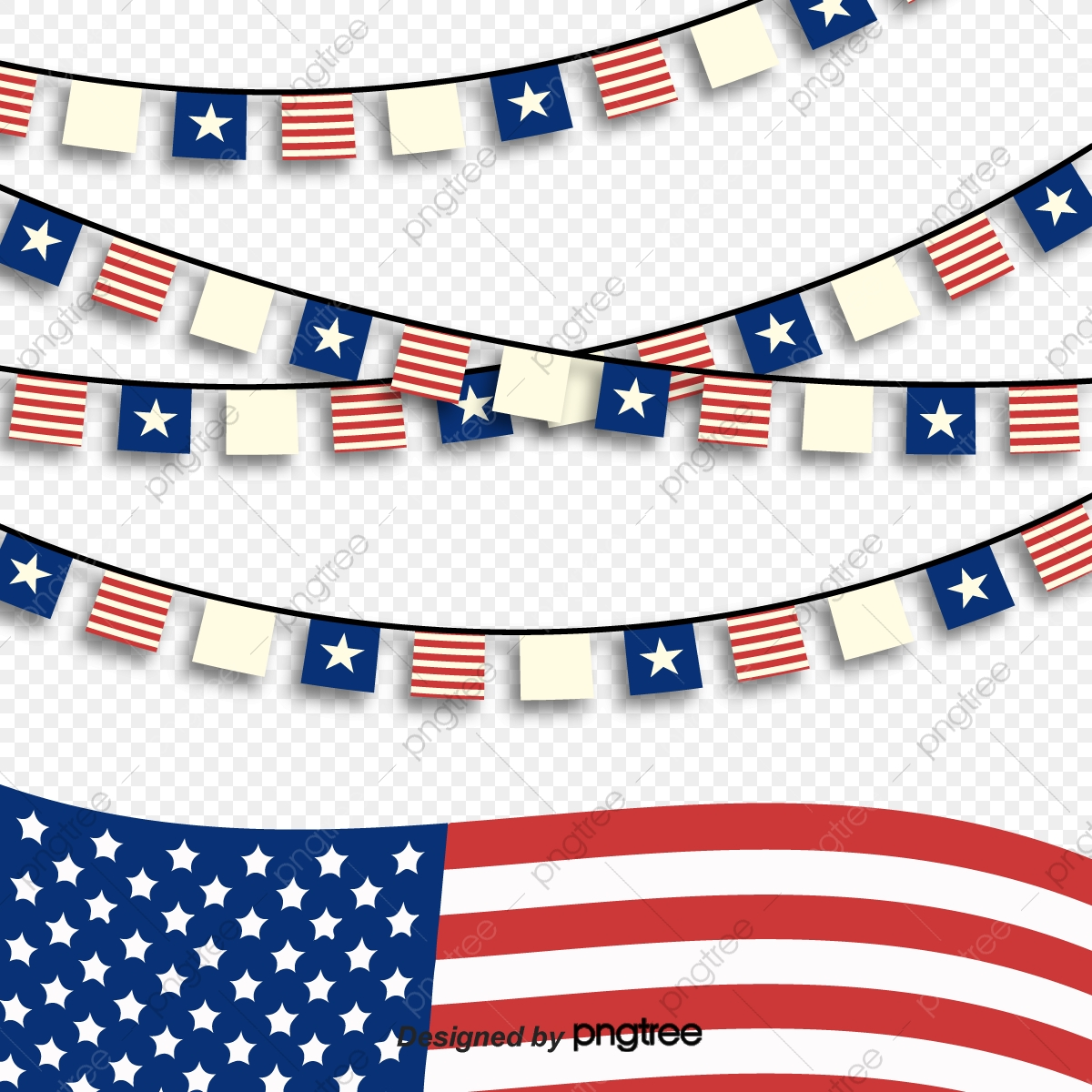 Presidential Day Decoration Material American Flag Colored