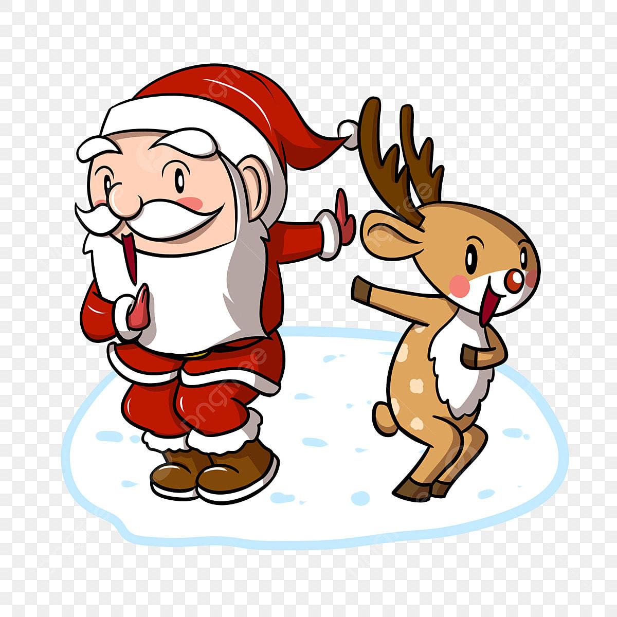 Le Père Noël Dessin Animé Renne De Noël Animé Dessin Animé