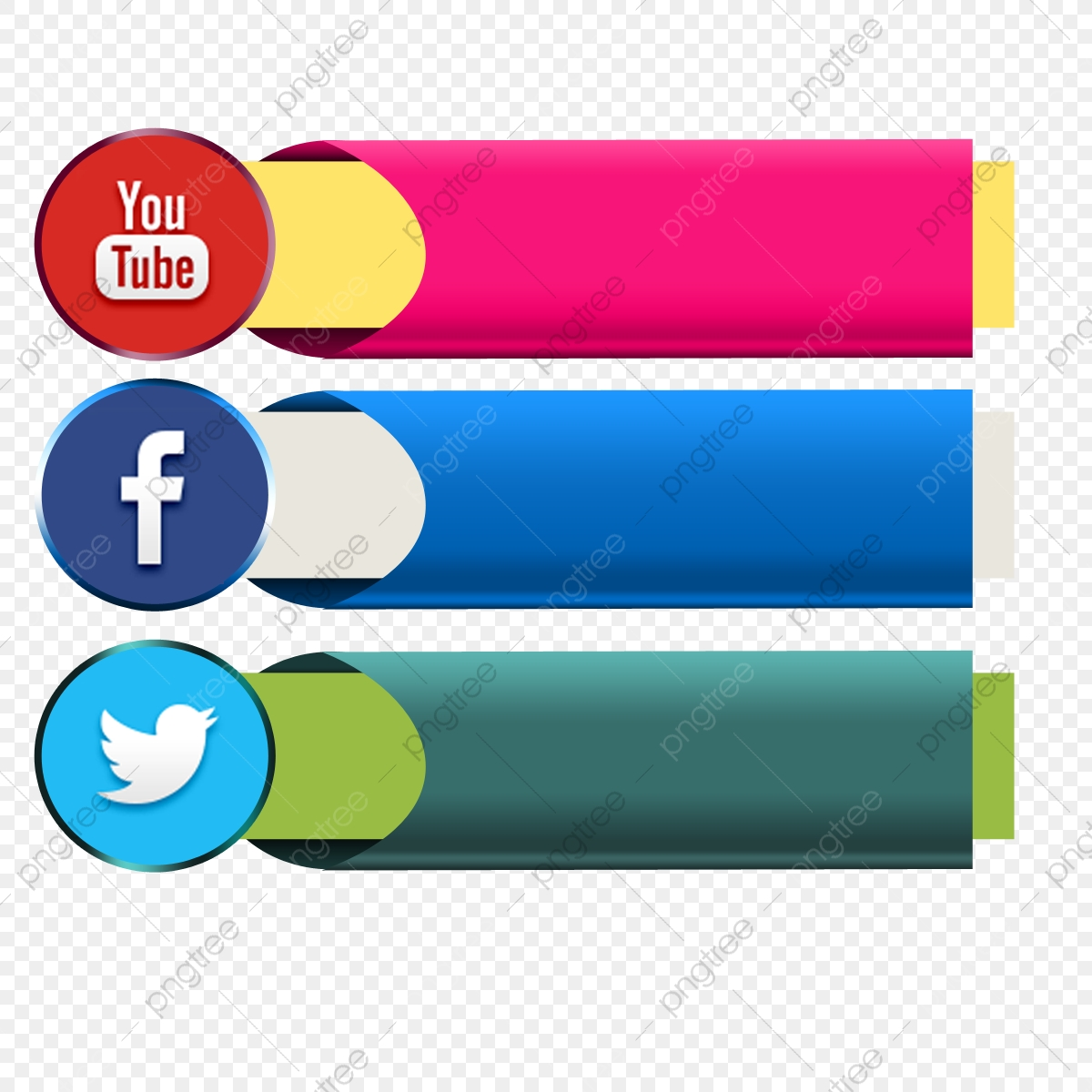 Social Media Icon Facebook Youtube Twitter Button Page