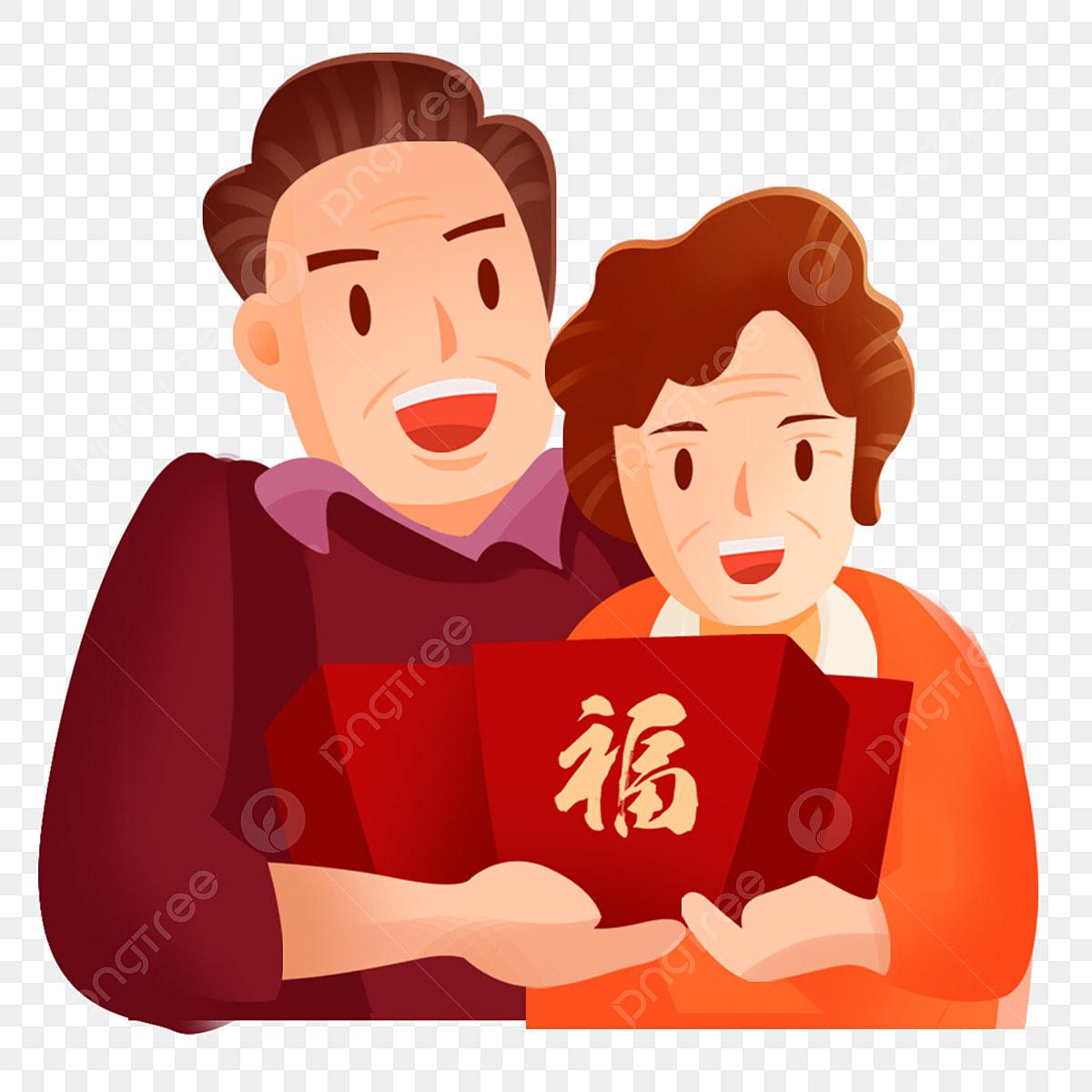 Fête Du Printemps Un Vieux Couple Charmant Mariage Dor Vieux