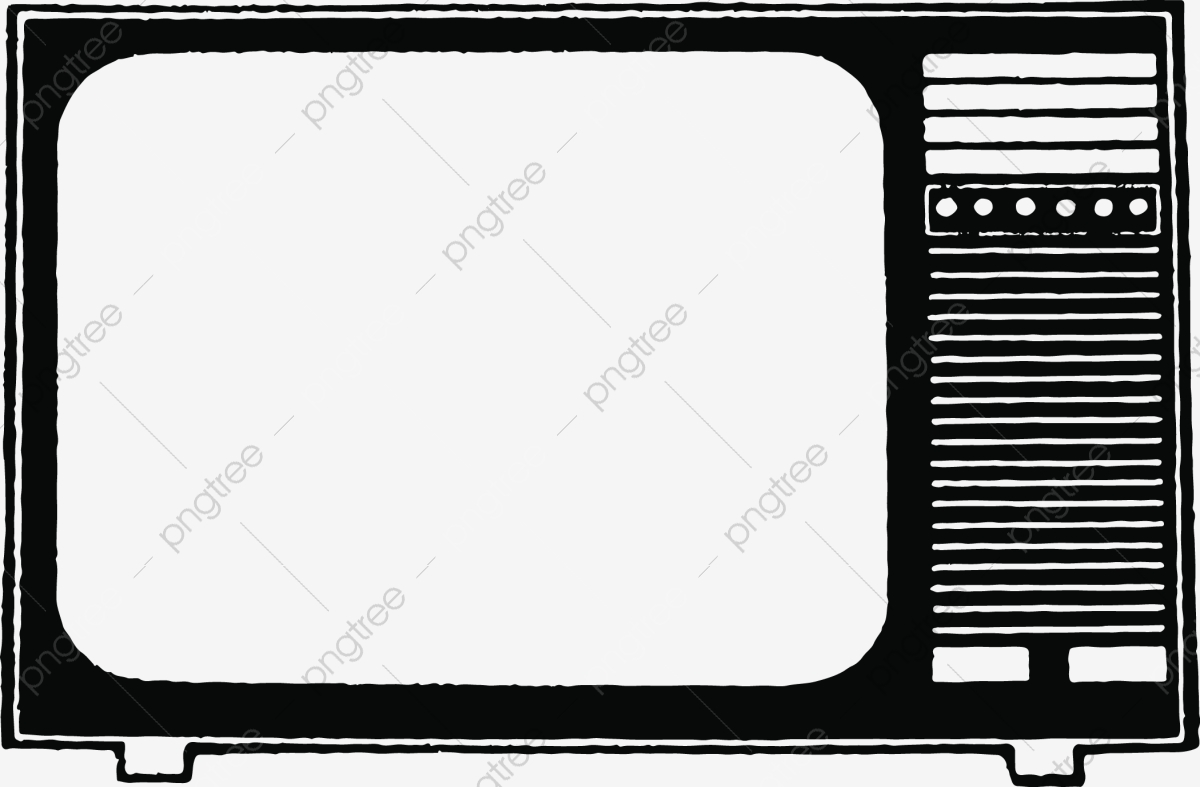 Tv Set Retro Old Time Hand Painted Cartoon Retro Electric Appliance Png And Vector With Transparent Background For Free Download