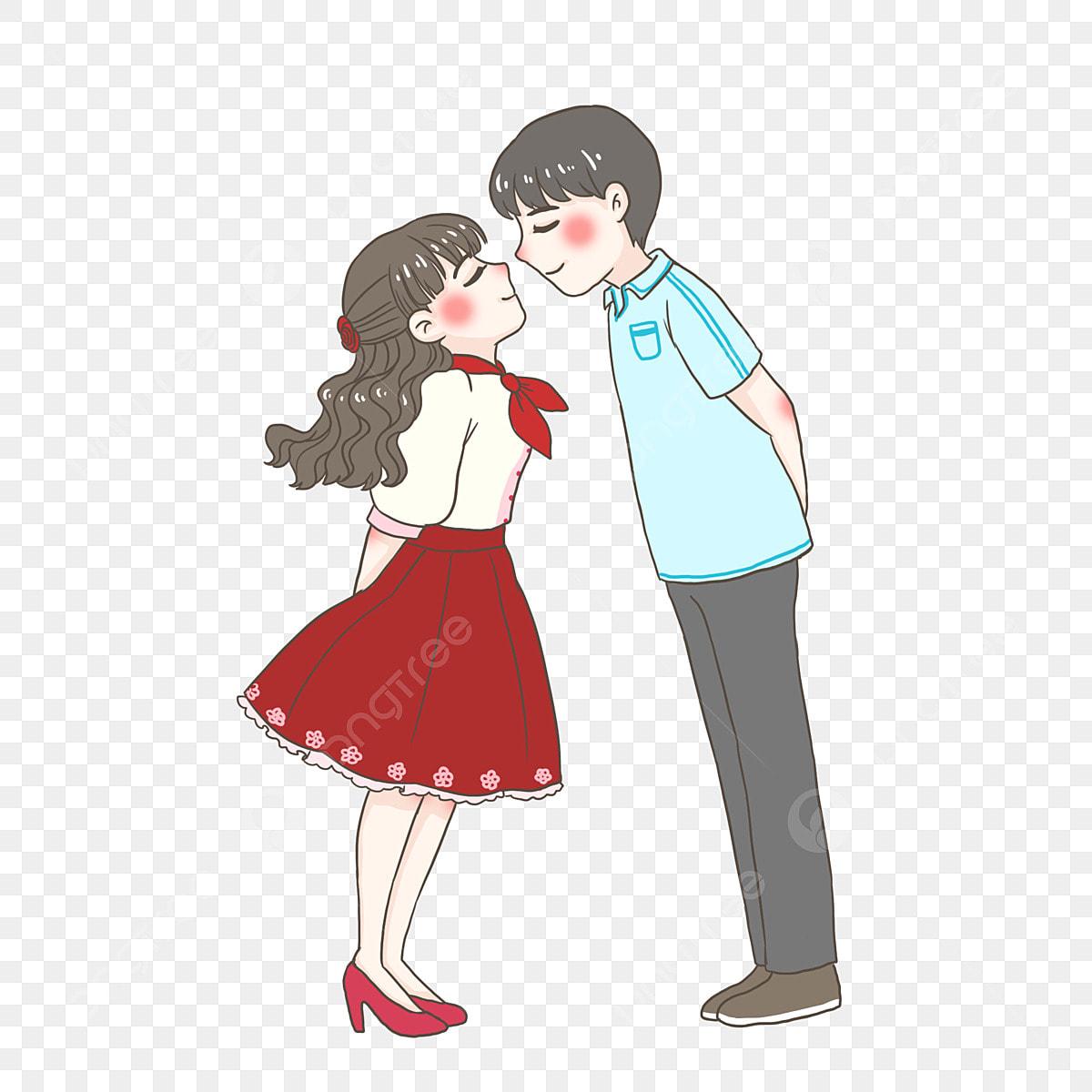 عيد الحب عشاق رومانسي حميم حميم قبلة فتاة فتى لطيف Png وملف Psd