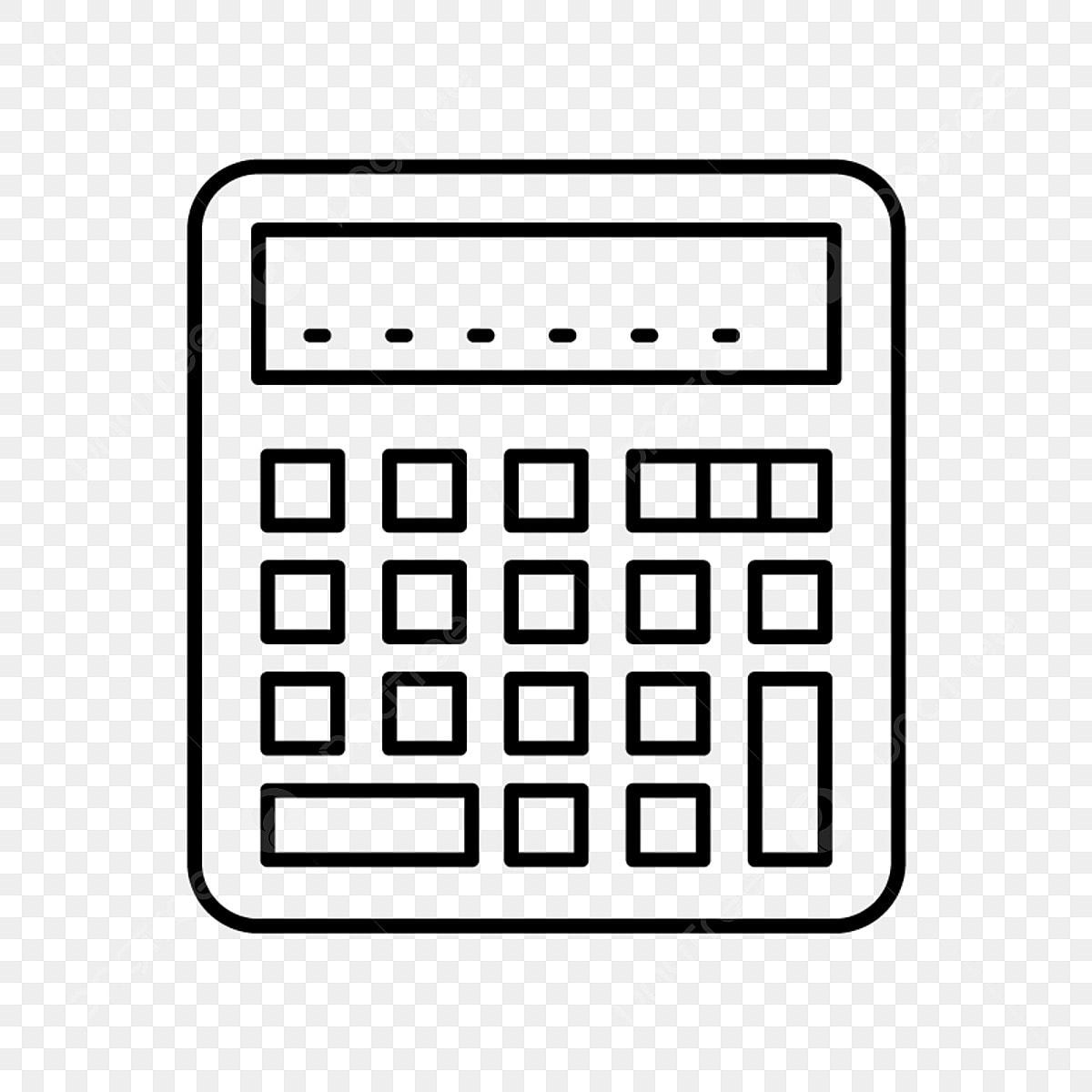 Vector Calculator Icon, Calc Icon, Calculator, Math PNG and Vector