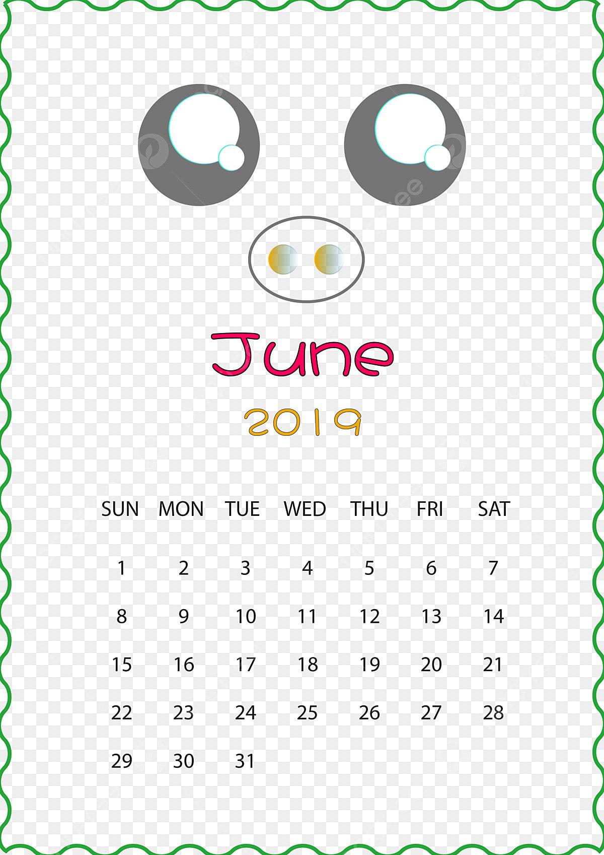 Calendario Dezembro 2019 Bonito.Ano Do Porco Calendario Desenhado De Mao Dos Desenhos