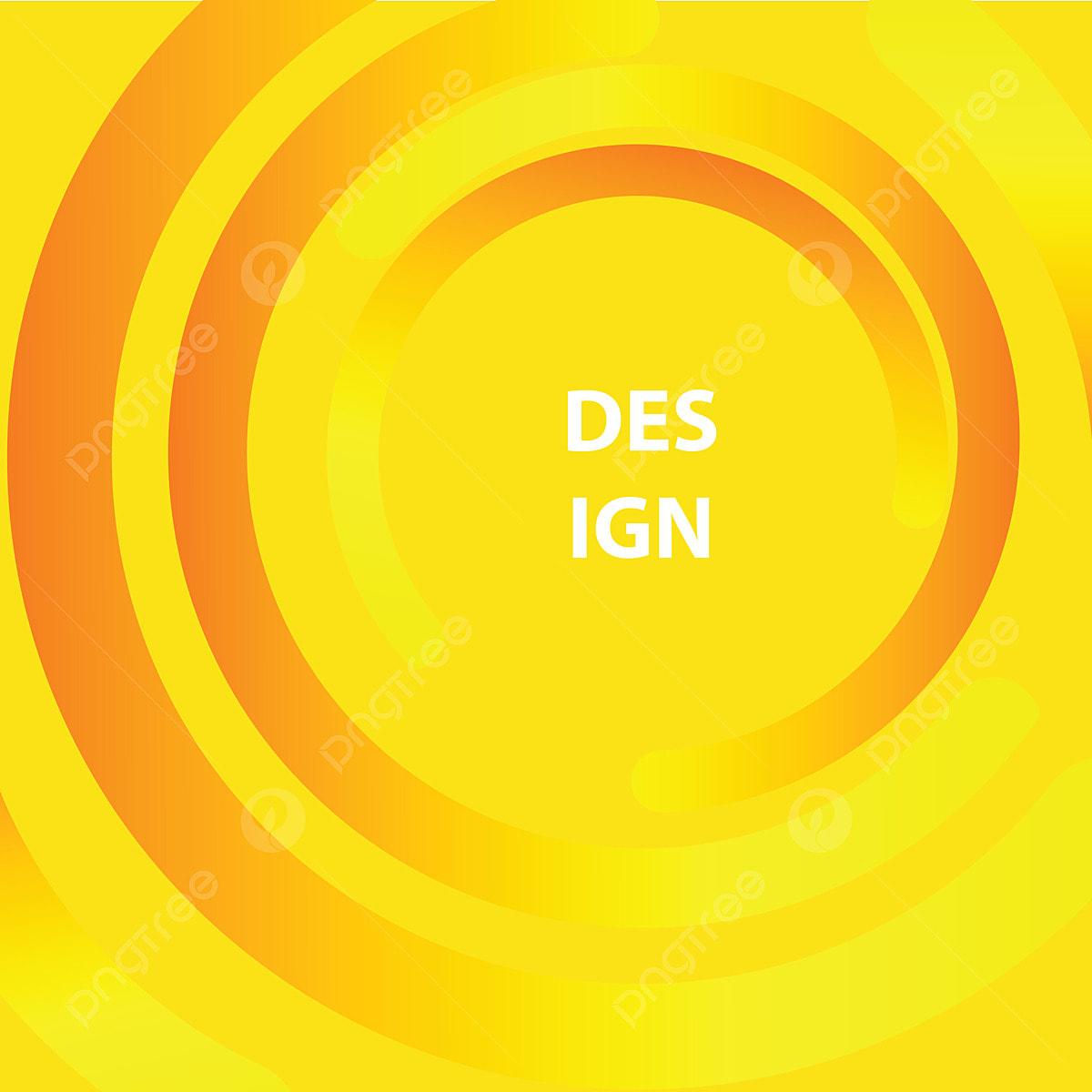 Yellow Circle Design Abstract Background Yellow Circle