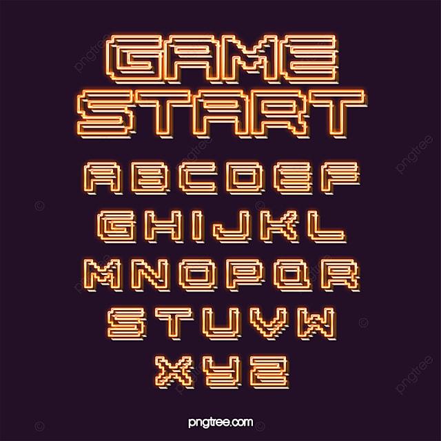 Color Fashion Simple Luminescent Line Cartoon Pixel Alphabet