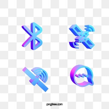 blue purple gradual 3d stereo communication technological icon, 3d, Polarization Color, Gradient PNG and PSD