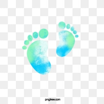boyswatercolour dizzy footprints, Baby, Baby, Halo Dyeing PNG and PSD