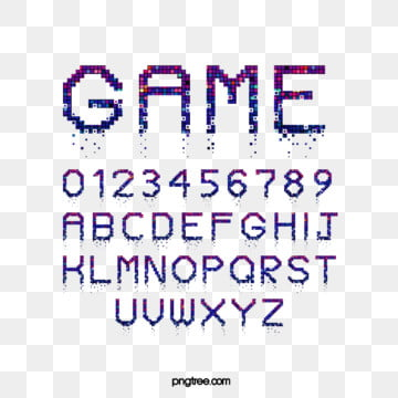 cartoon pixel lattice crash game alphabet Fonts