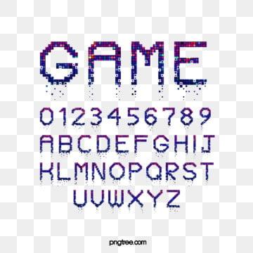 Cartoon Pixel Lattice Crash Game Alphabet Fonts