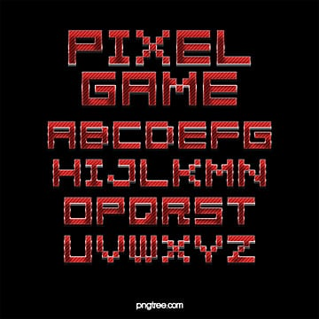 color cartoon fashion game cartoon pixel alphabet Fonts