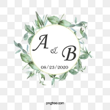 elegant wedding monograms and borders, Wedding Monogram, Logotype, Bohemian PNG and PSD