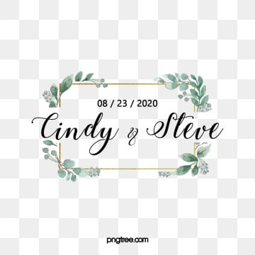 hand draw wedding monograms and borders, Wedding Monogram, Logotype, Bohemian PNG and PSD