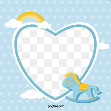 lovely childlike baby blue trojan horse photo frame, Lovely, Trojan Horse, Child Interest PNG and PSD