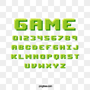 rejuvenated green cartoon pixel game alphabet Fonts