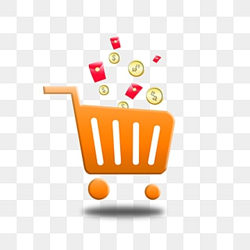 stereo gradual cartoon e commerce shopping cart, Element, Cartoon, Gradient PNG and PSD