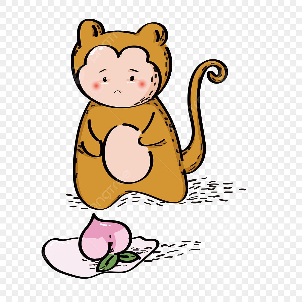 Animal Monkey Cartoon Commercial Element Animal Little