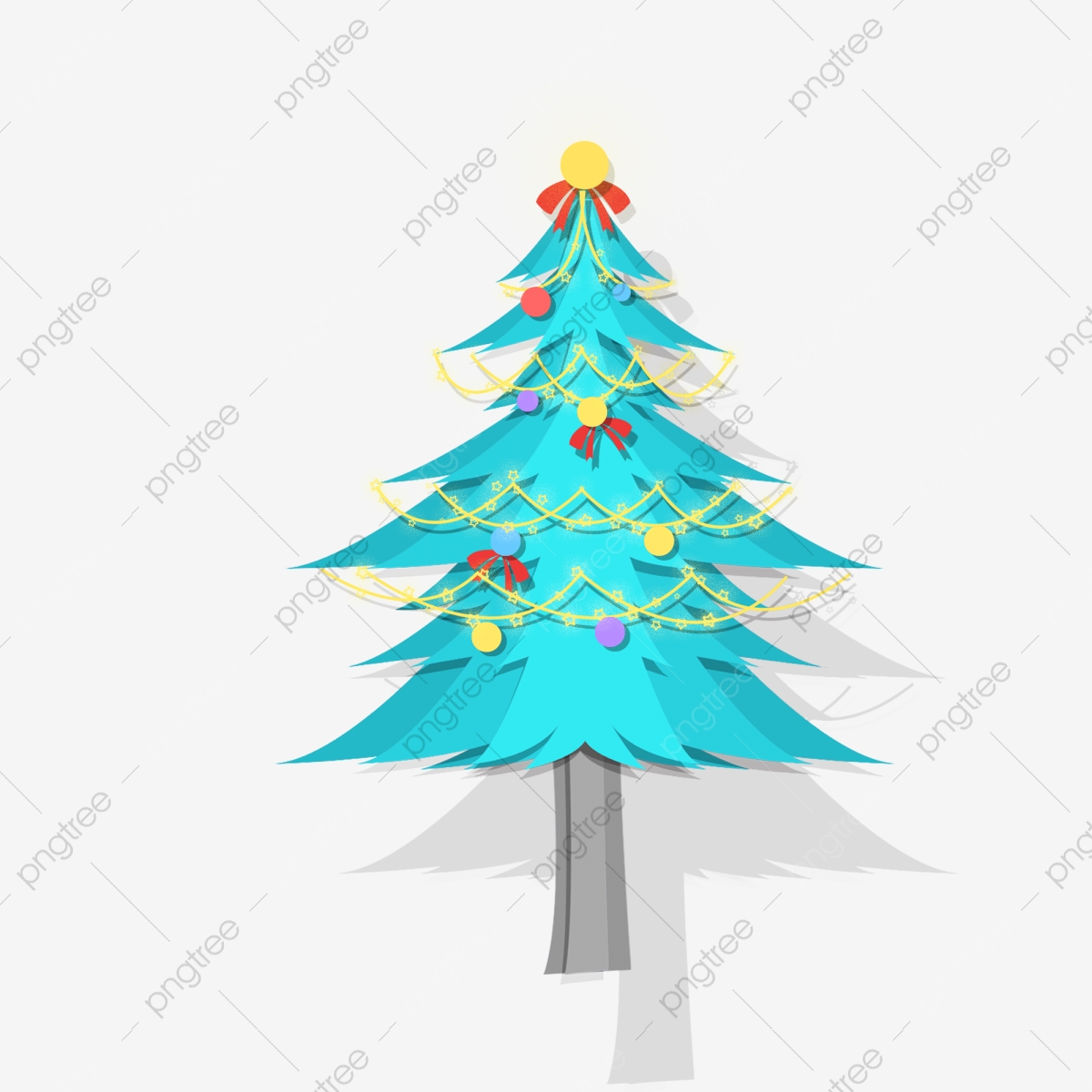 Blue Christmas Tree Decoration Element Design Blue Cartoon Simple Png Transparent Clipart Image And Psd File For Free Download