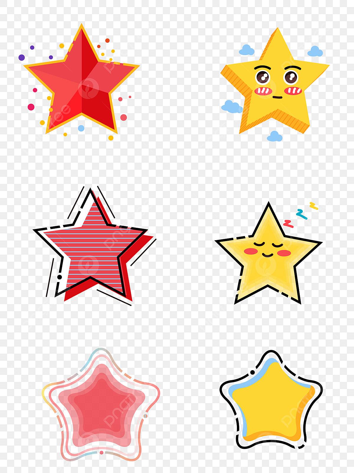 Nouvel Dessin Animé Minimaliste étoile Mignonne à Cinq Branches AM-19