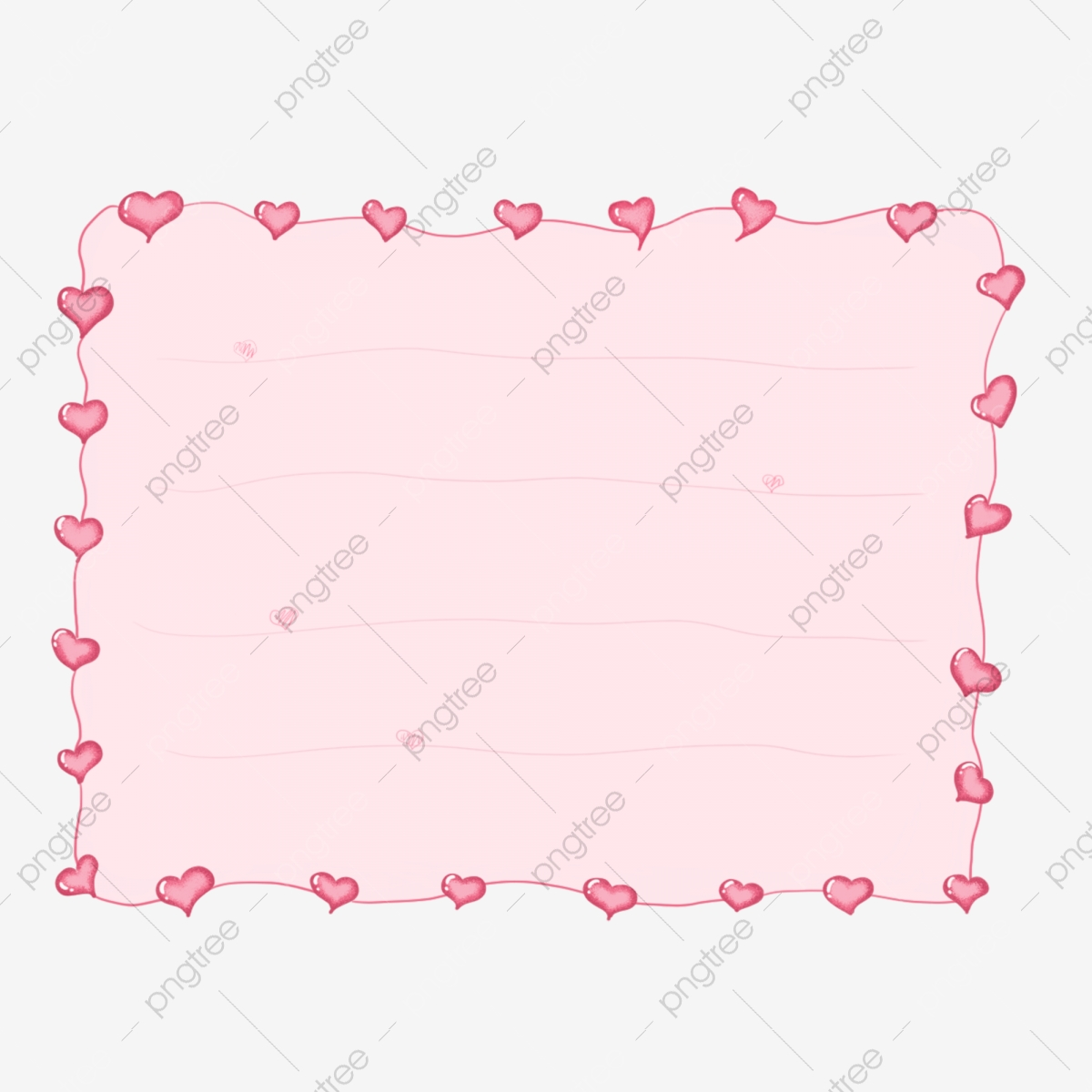 Hand Painted Hand Account Material Dividend Red Love Border