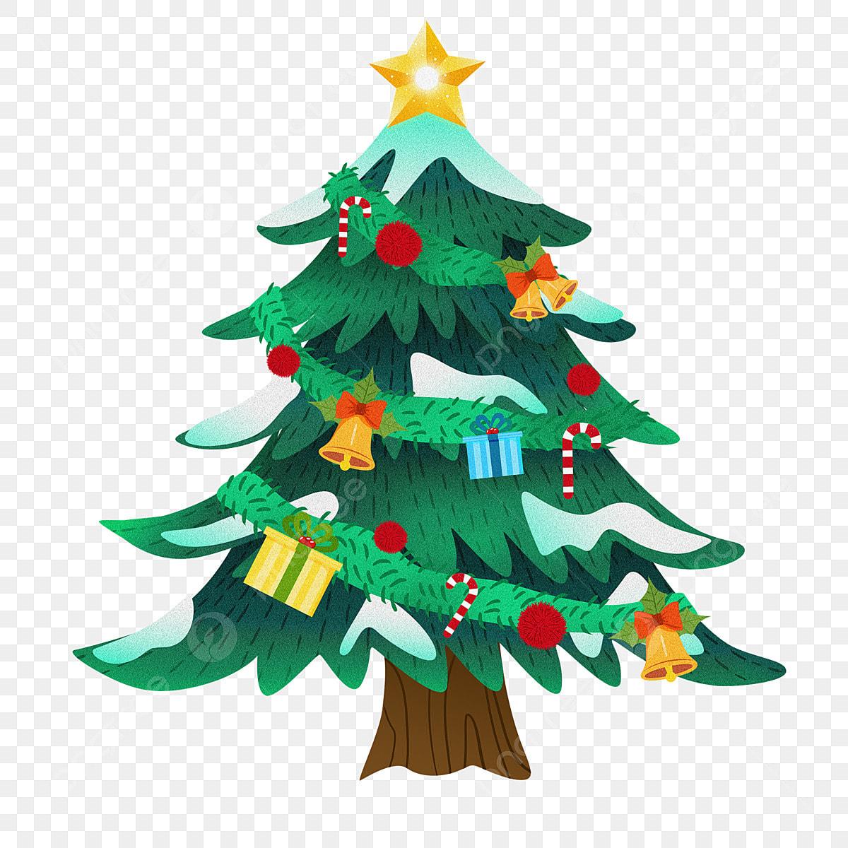 Dibujos De Arboles De Navidad Pintados.Pintado Diseno De Dibujos Animados Elemento Arbol Navidad
