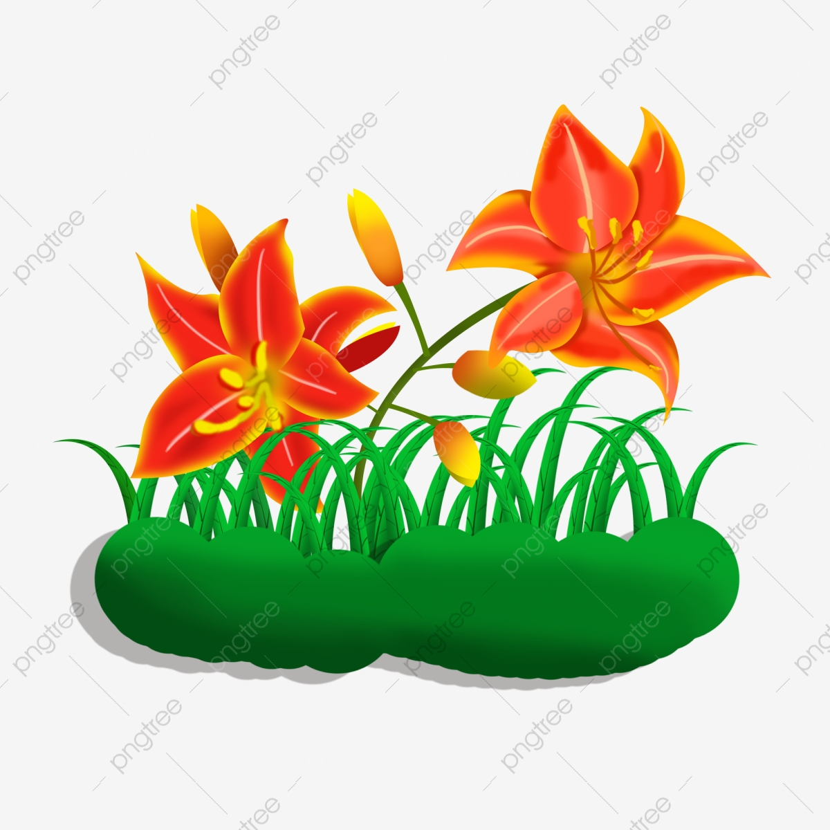Reka Bentuk 3 Elemen Bunga Sederhana Dan Bergaya Bunga Bunga Halus