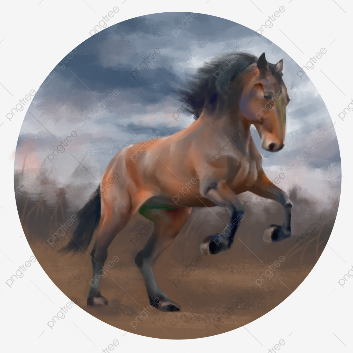 There Are Layered Hand Painted Realism Thick Painted Oil Painting Wind Animal Horse Horse Clipart Realistic Thick Coating Png Transparent Clipart Image And Psd File For Free Download