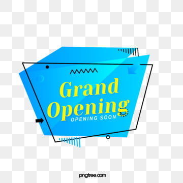 blue geometric label grand opening element, Geometric, Circular, Label PNG and PSD
