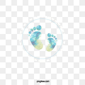 boyswatercolour dizzy footprints, Baby, Newborn, Halo Dyeing PNG and PSD