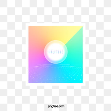 Color Halftone Fresh Gradient Square Text Box, Circular, Color, Square PNG and PSD