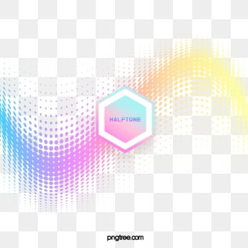 Color Halftone Gradient Hexagonal Text Box, Hexagon, Color, Label PNG and PSD
