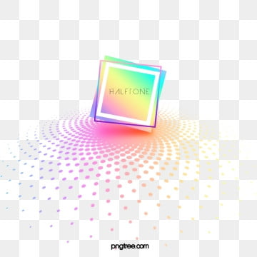 Color Halftone Gradient Square Text Box, Color, Square, Square Box PNG and PSD