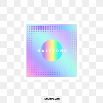 Color Halftone Laser Gradient Square Text Box, Circular, Color, Square PNG and PSD