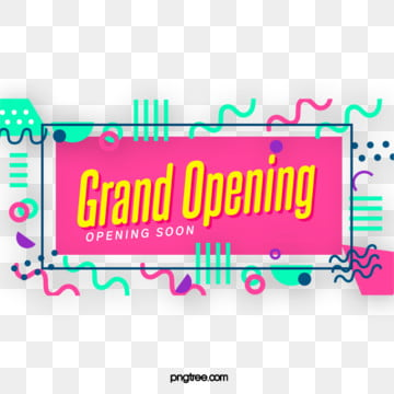 colour collision geometric label grand opening element, Geometric, Circular, Practice PNG and PSD