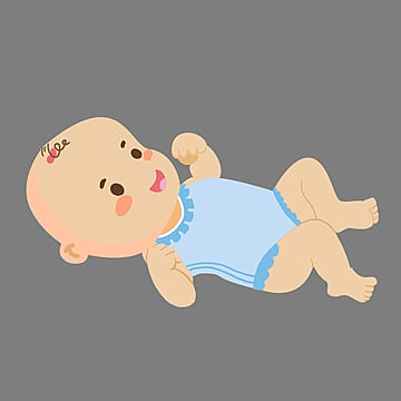 cute cartoon lying playing baby, Clever, Cartoon, Lovely PNG and PSD