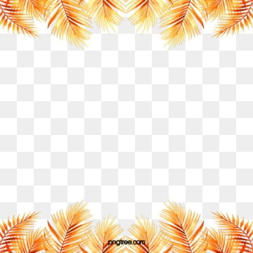 delicate golden tropical plant geometric border, Geometric, Creative, Magnificent PNG and PSD