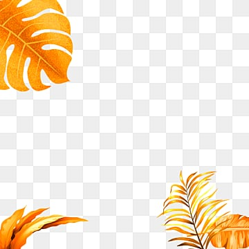 golden tropical plant geometric border, Geometric, Creative, Magnificent PNG and PSD