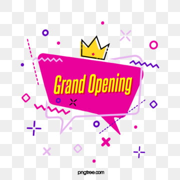 grand opening element of pink purple geometric bubble label, Geometric, Circular, Practice PNG and PSD