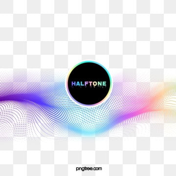 halftone color gradient circular, Commercial, Circular, Colourful PNG and PSD