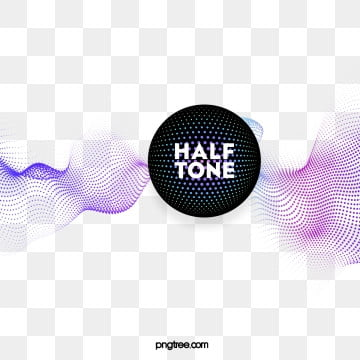 halftone color gradient dot text box, Circular, Color, Label PNG and PSD