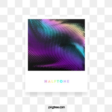halftone color gradient frame paper text box, Color, Square, Label PNG and PSD