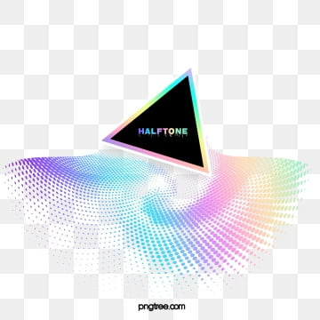 halftone color gradient triangle text box, Triangle, Business, Colourful PNG and PSD