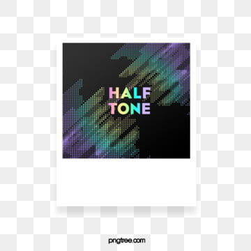Halftone Photo Frame Paper Color Gradient Text Box, Color, Square, Label PNG and PSD