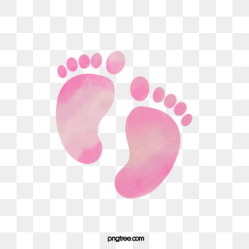 neonatal watercolor halo style footprints hand painted, Baby, Lovely, Baby PNG and PSD